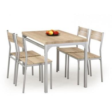 SET DINING - MASA MALCOLM SONOMA CU 4 SCAUNE - DESIGN MODERN - HALMAR