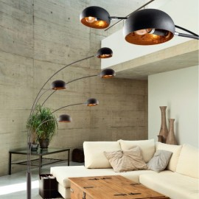 LAMPADAR DIN METAL BRANCA ZUMA LINE TS-5805-BKGO