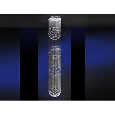 LUSTRA/PLAFONIERA LED SI CRISTALE - ESTRATOS 690197 - DIMENSIUNI MARI - SCHULLER