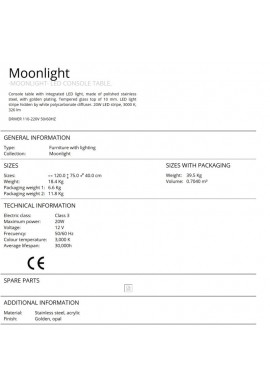 CONSOLA DESIGN ULTRA MODERN MOONLIGHT AURIU 685497 CU LED