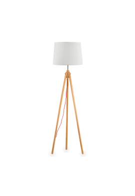 LAMPADAR YORK PT1 WOOD STIL CLASIC IDEAL LUX