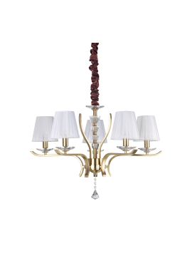 CANDELABRU PEGASO SP5 OTTONE SATINATO STIL CLASIC IDEAL LUX