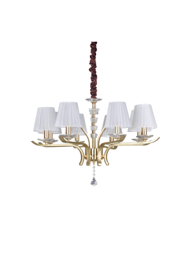 CANDELABRU PEGASO SP8 OTTONE SATINATO STIL CLASIC IDEAL LUX