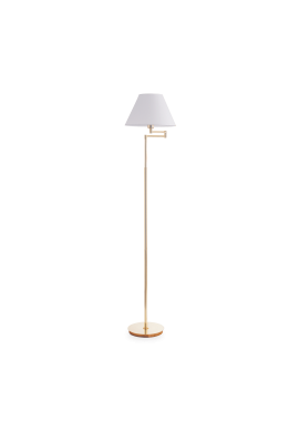 LAMPADAR BEVERLY PT1 OTTONE SATINATO STIL CLASIC IDEAL LUX