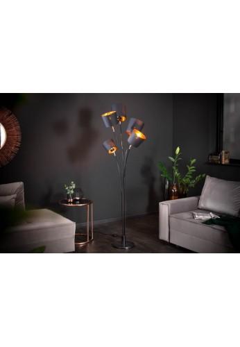 LAMPADAR LEVEL 178CM NEGRU/AURIU 40038 DESIGN MODERN