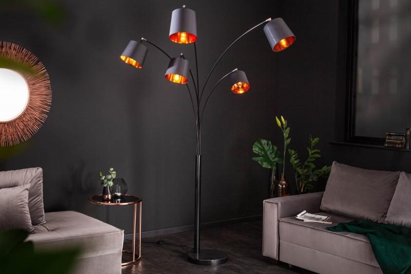 LAMPADAR LEVEL 202CM NEGRU/AURIU 40036 DESIGN MODERN