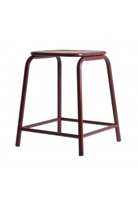 SCAUN DE BAR RUTHIN Ref. 25217, BORDO, DIN METAL, STIL VINTAGE LD
