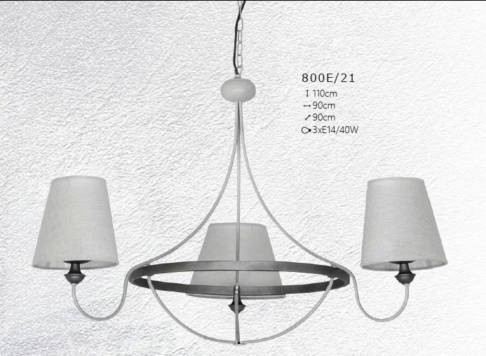 CANDELABRU BARRAS 800E/21 + ALDEX