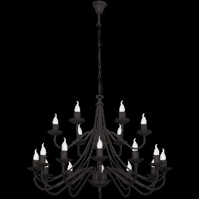 CANDELABRU - ROZA BLACK - 397S1 - DESIGN INDUSTRIAL