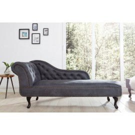 SOFA STIL ENGLEZESC GRI ANTIC CHESTERFIELD 37475 - DESIGN VINTAGE