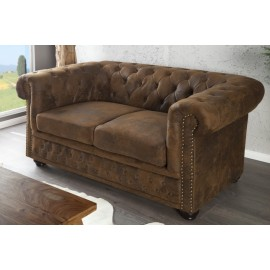 CANAPEA MARO ANTIC STIL ENGLEZESC CHESTERFIELD 17109 - DESIGN VINTAGE